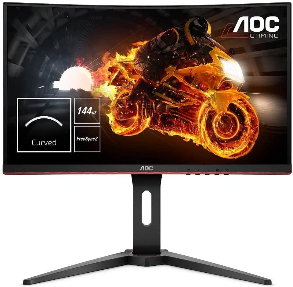 """AOC C24G1 - Monitor gaming curvo sin marcos de 24"""" Full HD e-Sports"""
