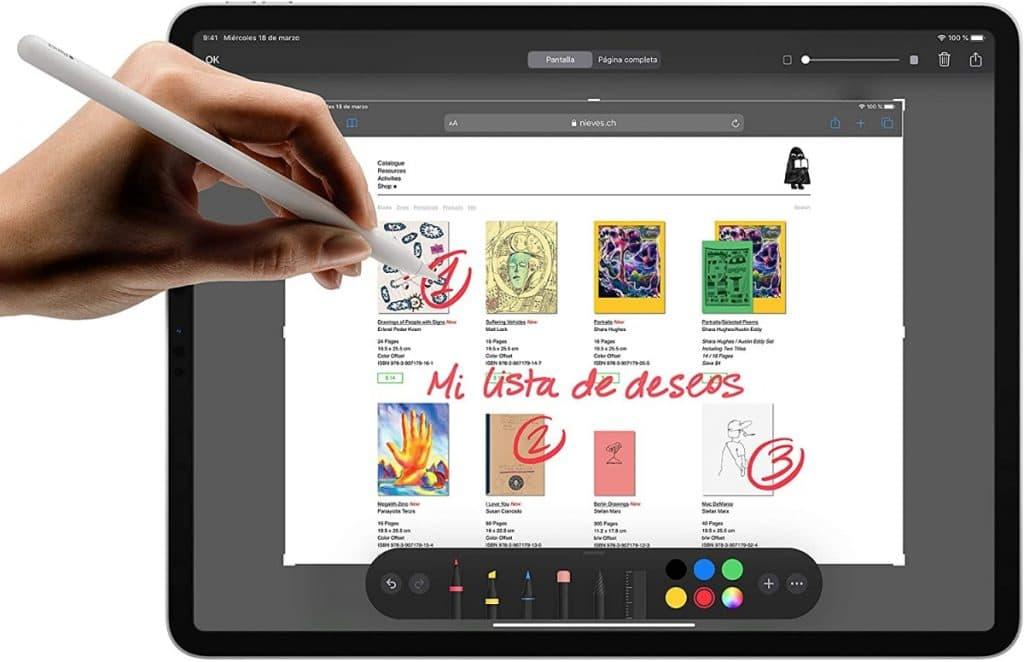 Nuevo Apple iPad Pro (de 12,9 pulgadas, con Wi-Fi y 128 GB) - Gris espacial (4.ª generación)