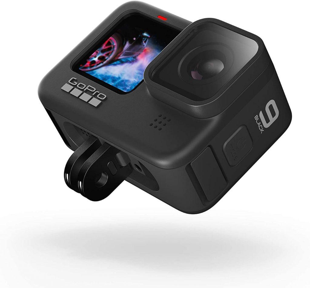 GoPro HERO9 Black - Cámara de acción Sumergible con Pantalla LCD Delantera y Pantalla táctil Trasera, vídeo 5K Ultra HD