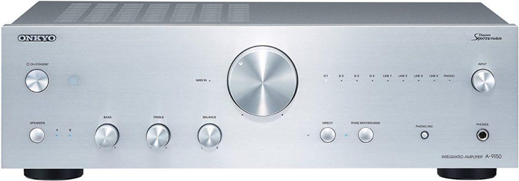 Onkyo A-9150-S - Amplificador de Audio (con Estero Integrado, 2 Canales, 75 W por Canal) Color Plata