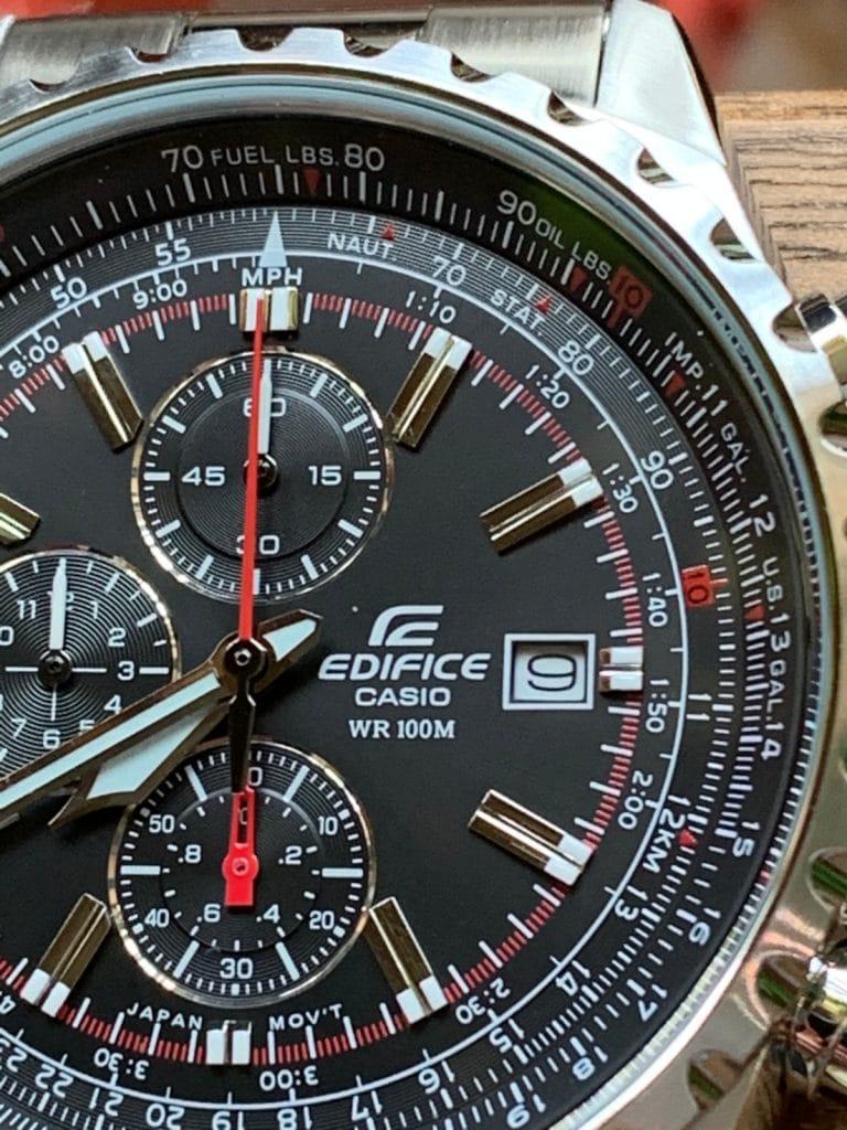 Casio Edifice EF-527D-1AVEF: manecillas