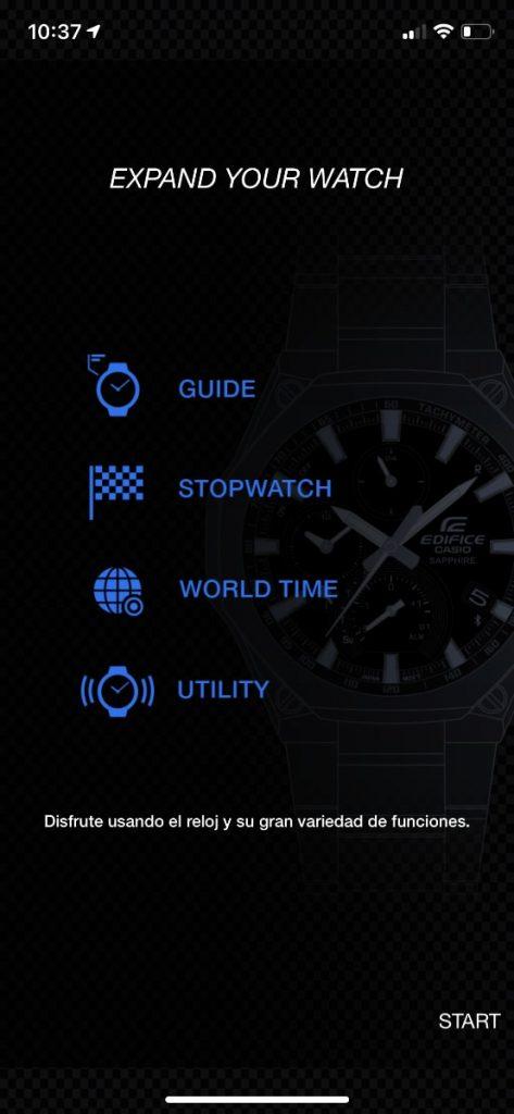 Casio EDIFICE EQB-1100DC-1AER app Edifice connected
