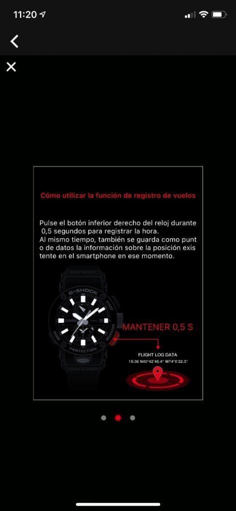 Casio G-Shock GWR-B1000 Gravitymaster: aplicación y conectividad bluetooth