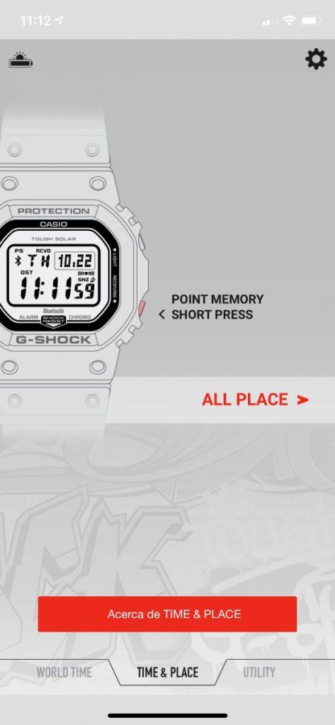Casio G-Shock GW-B5600: Conectividad bluetooth y app