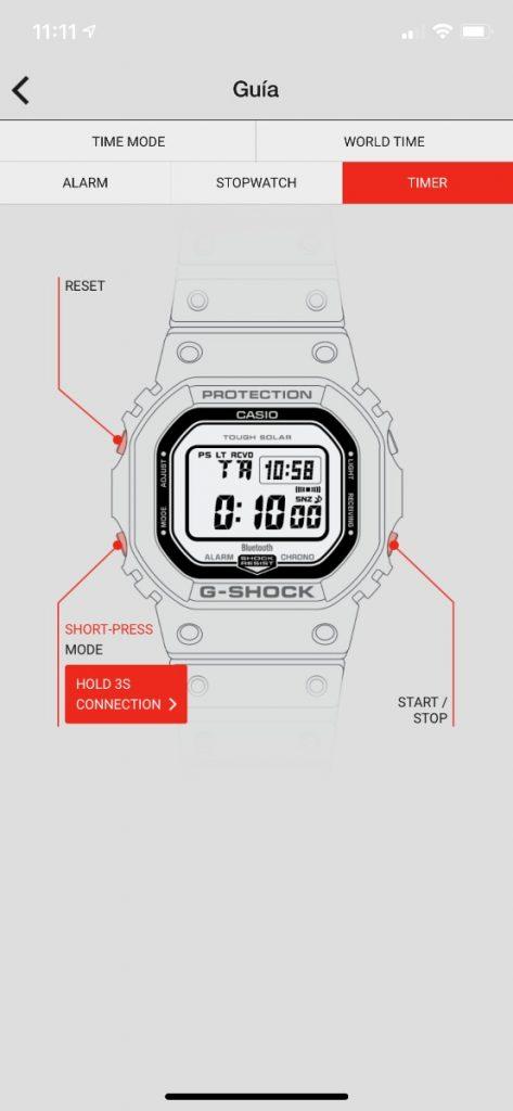 Casio G-Shock GW-B5600: guia reloj