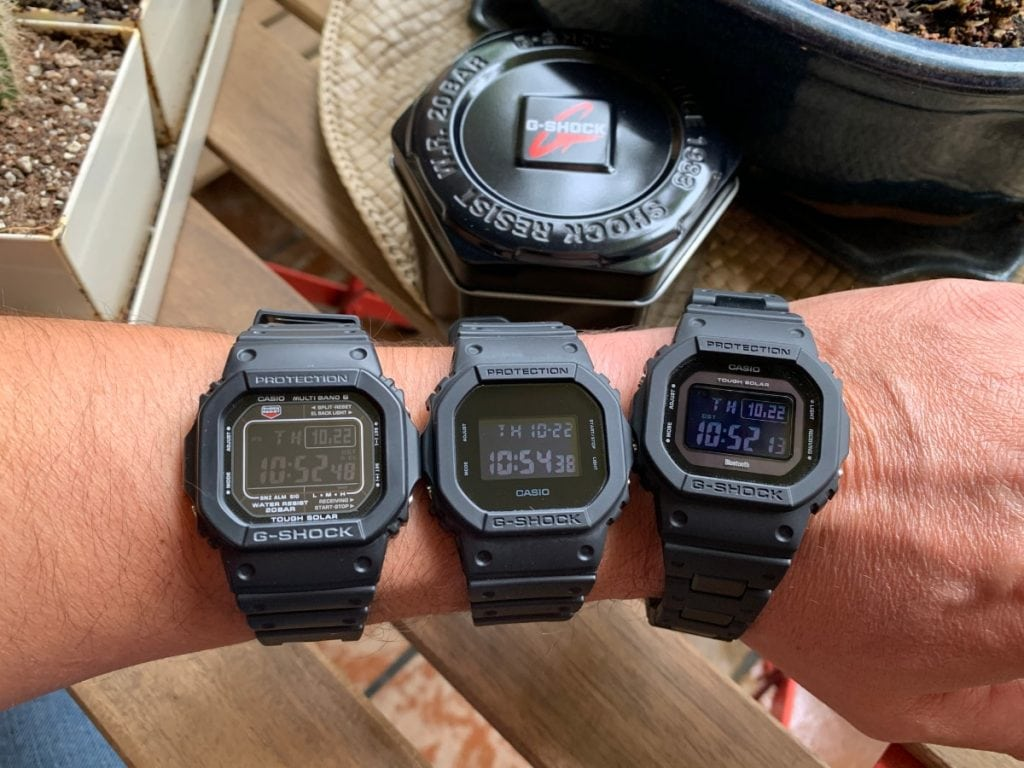 Casio G-Shock GW-B5600BC-1BER vs CASIO G-Shock DW-5600BB vs Casio GW-5610-1BER