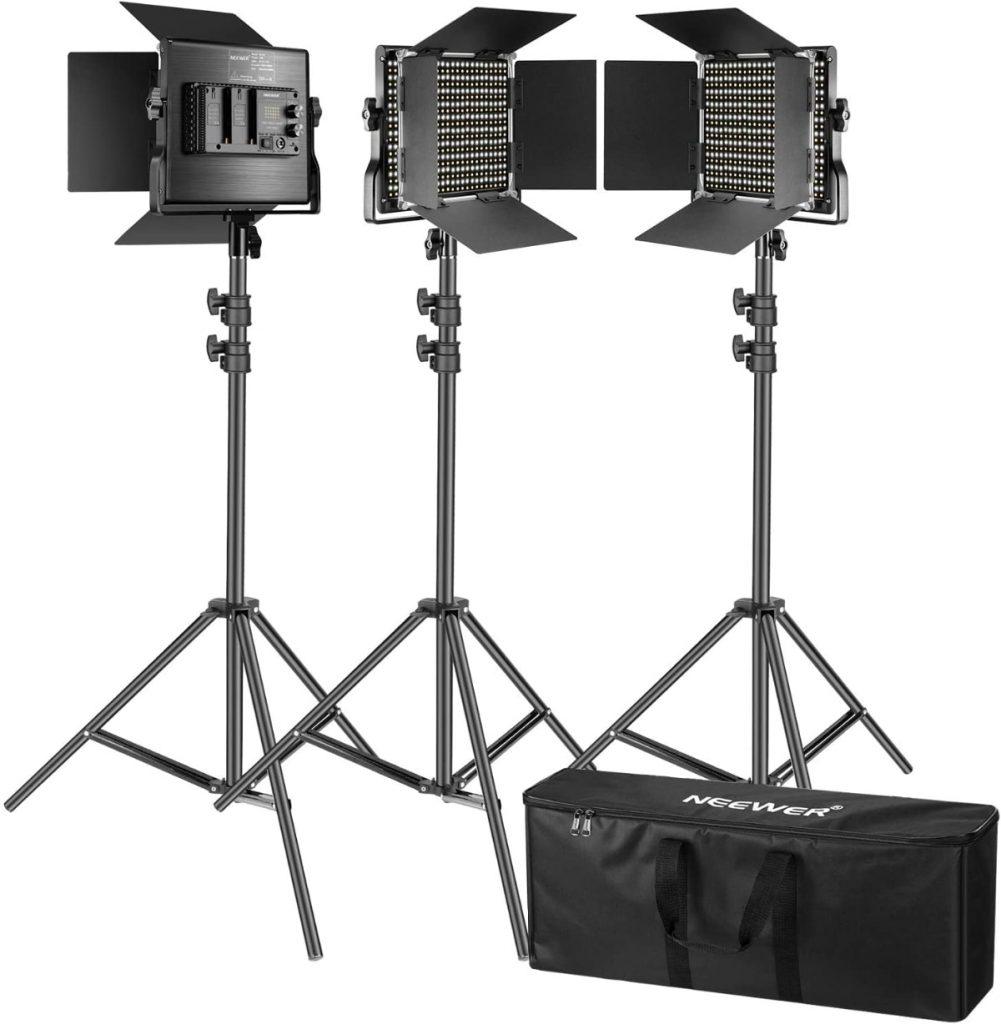 Iluminación con luces para tus videos: Kit de Iluminación de Neewer
