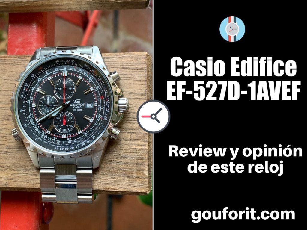 Casio Edifice EF-527D-1AVEF - Opinión y review de este reloj para pilotos de avión