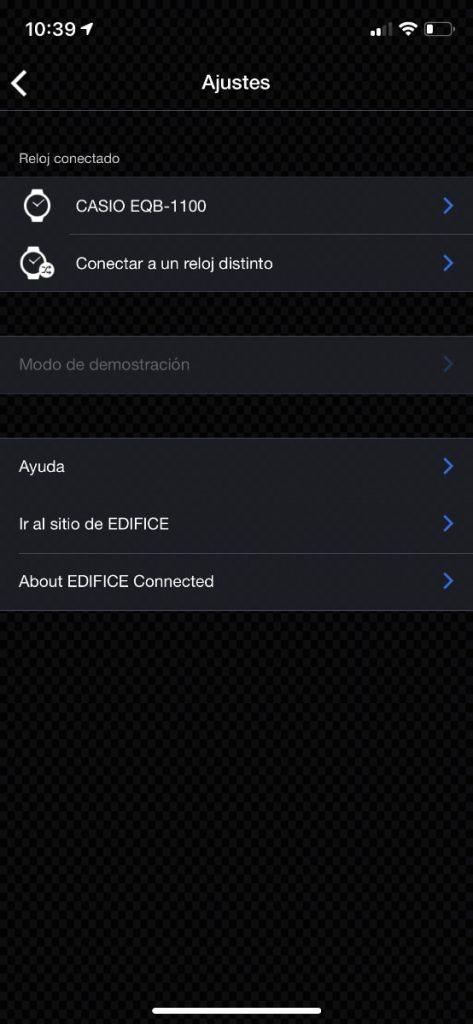 Casio EDIFICE bluetooth ajustes reloj