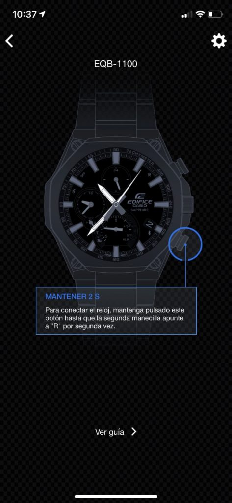 Casio Edifice Connected app