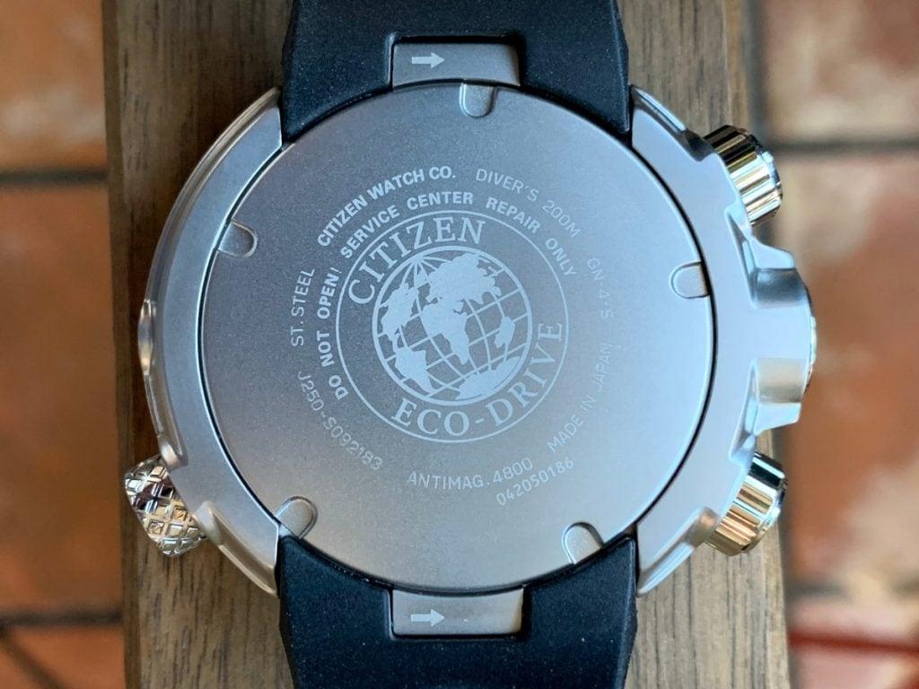 Reloj Citizen Aqualand Eco Drive BN2024-05E: parte trasera