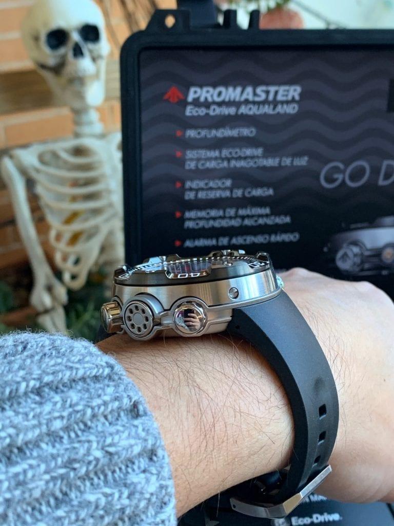 Citizen Aqualand Eco Drive Promaster BN2024-05E: cómo queda en la muñeca