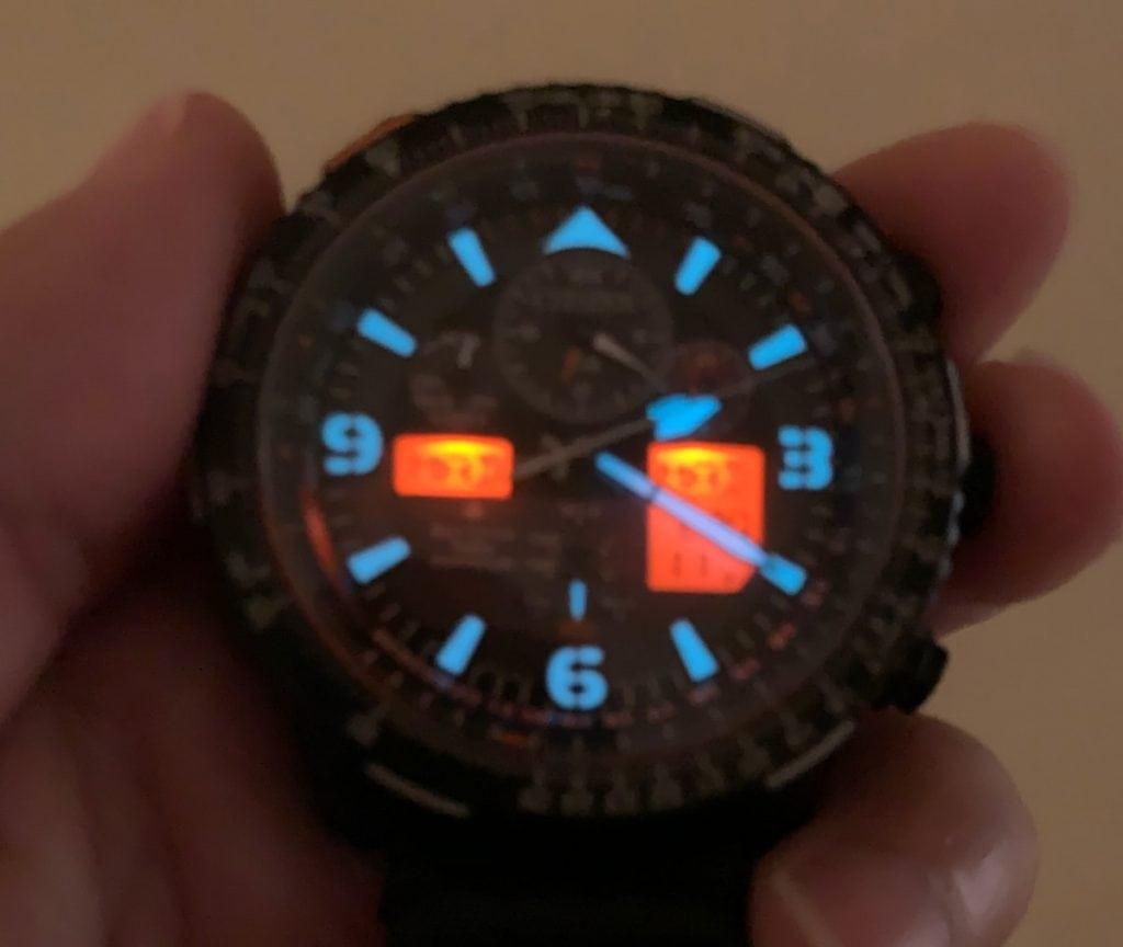Reloj Citizen Eco Drive JY8085-14H Super Pilot con radiocontrol: lumen y LCD