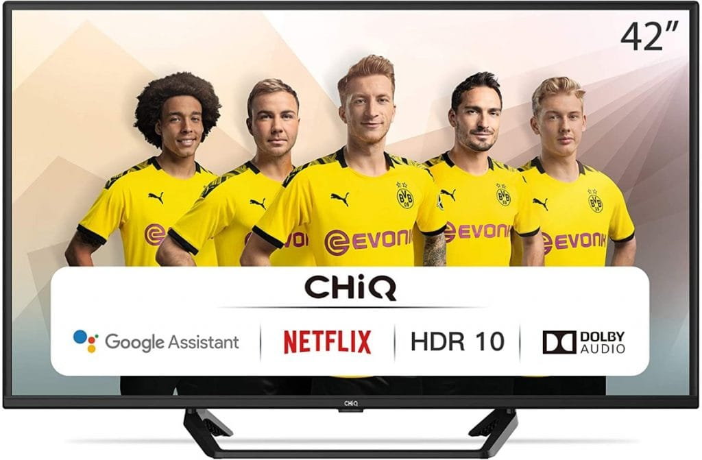 CHiQ Televisor Smart TV LED 42 Pulgadas 4K UHD