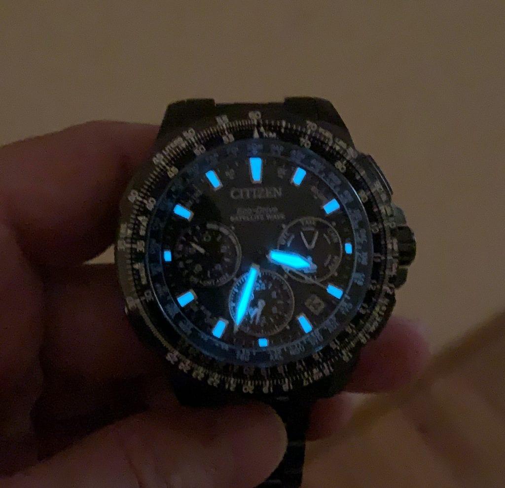 Reloj Citizen Eco Drive CC9025-51E Satellite Wave GPS Sky Premier: lumen
