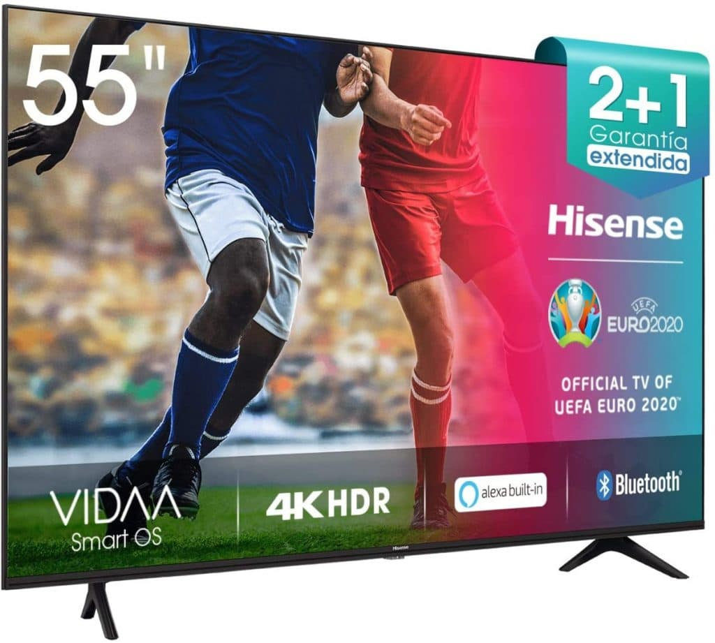 Hisense UHD TV 2020 55AE7000F - Smart TV Resolución 4K con Alexa integrada