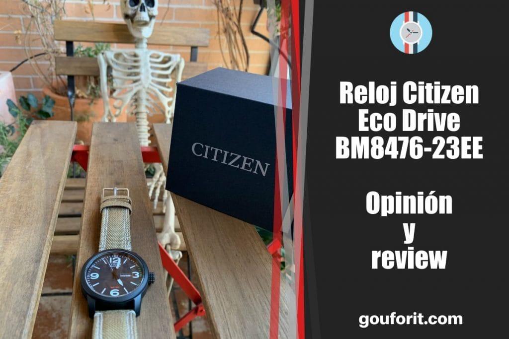 Reloj Citizen Eco Drive BM8476-23E - opinion y review