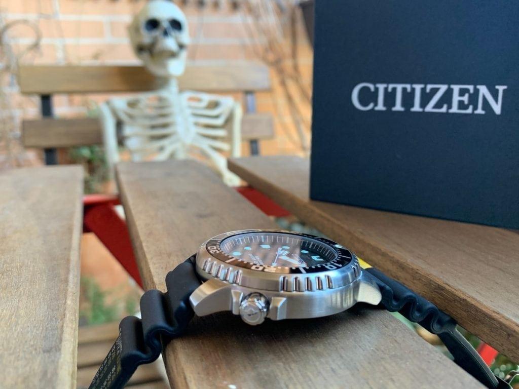 Reloj Citizen Eco Drive BN0150-10E Promaster: visión lateral