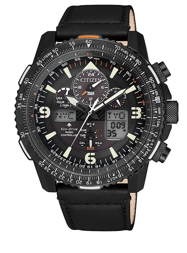 Citizen Eco Drive JY8085-14H Super Pilot con radiocontrol: reloj de piloto con todo lo que puedes desear