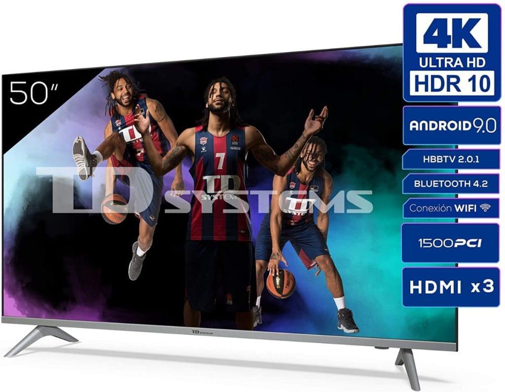 TD Systems K50DLJ12US - Televisor de 50 Pulgadas 4K