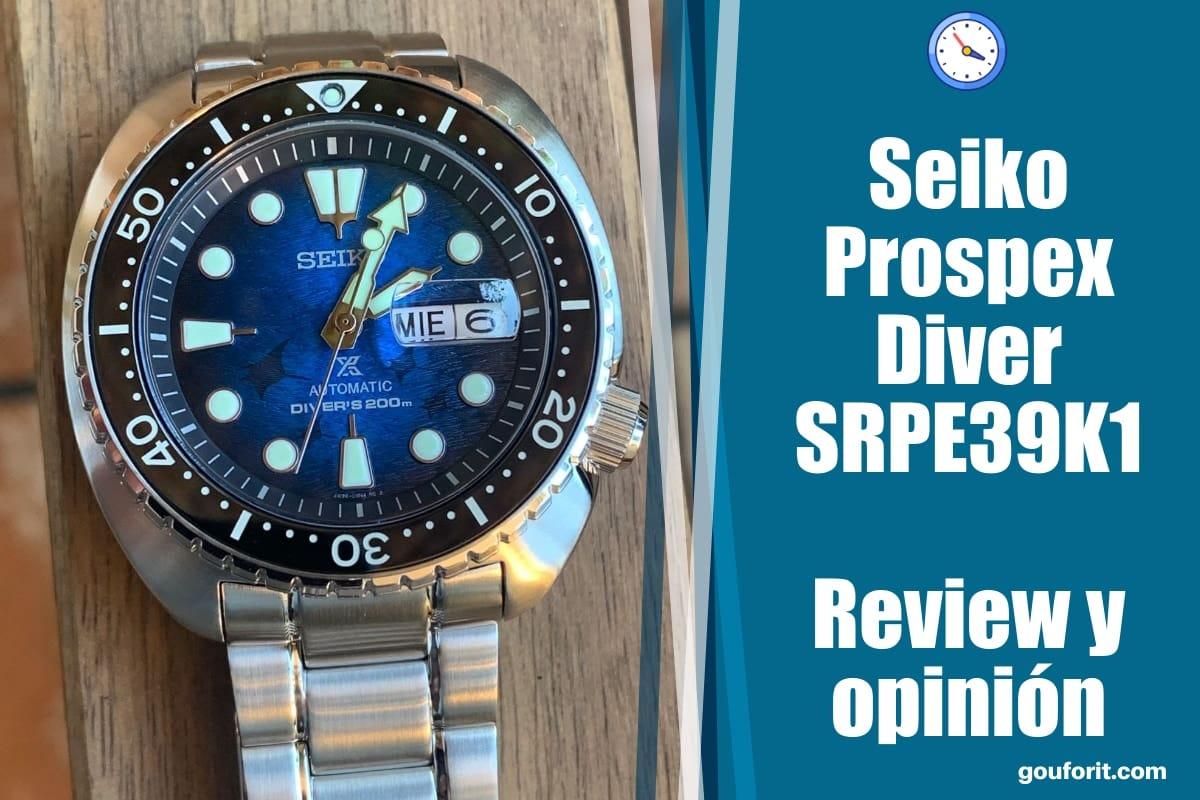 "Seiko Prospex SRPE39K1 ""KING TURTLE MANTA RAYA"" - Opinión y review"