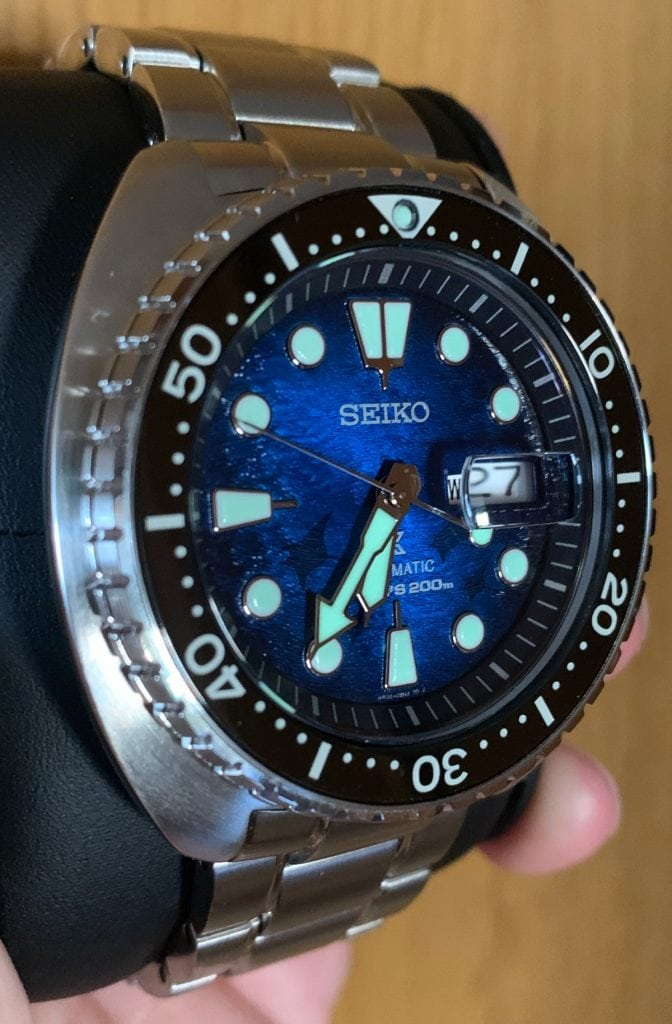 Seiko Prospex SRPE39K1: lume
