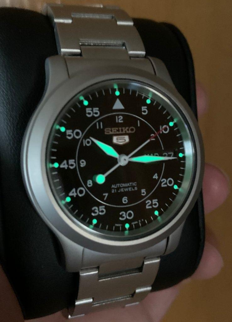 Seiko SNK809 - Reloj automático lume