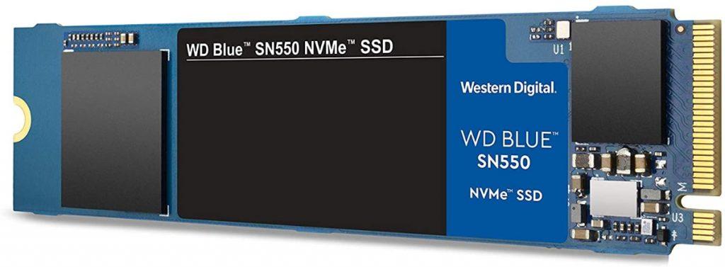 Western Digital Azul SN550 500 GB NVMe SSD, Gen3 x4 PCIe, M.2 2280, 3D NAND
