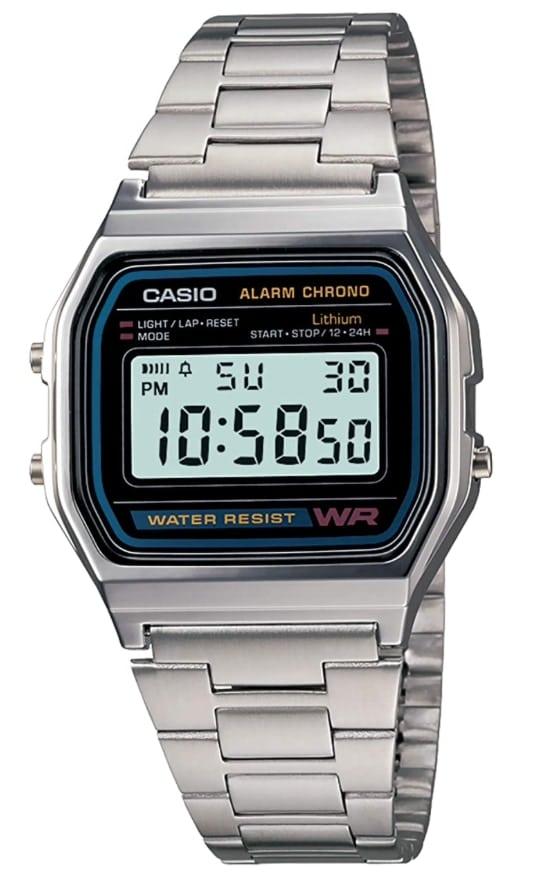 Casio A158W: el Casio plateado que estabas buscando