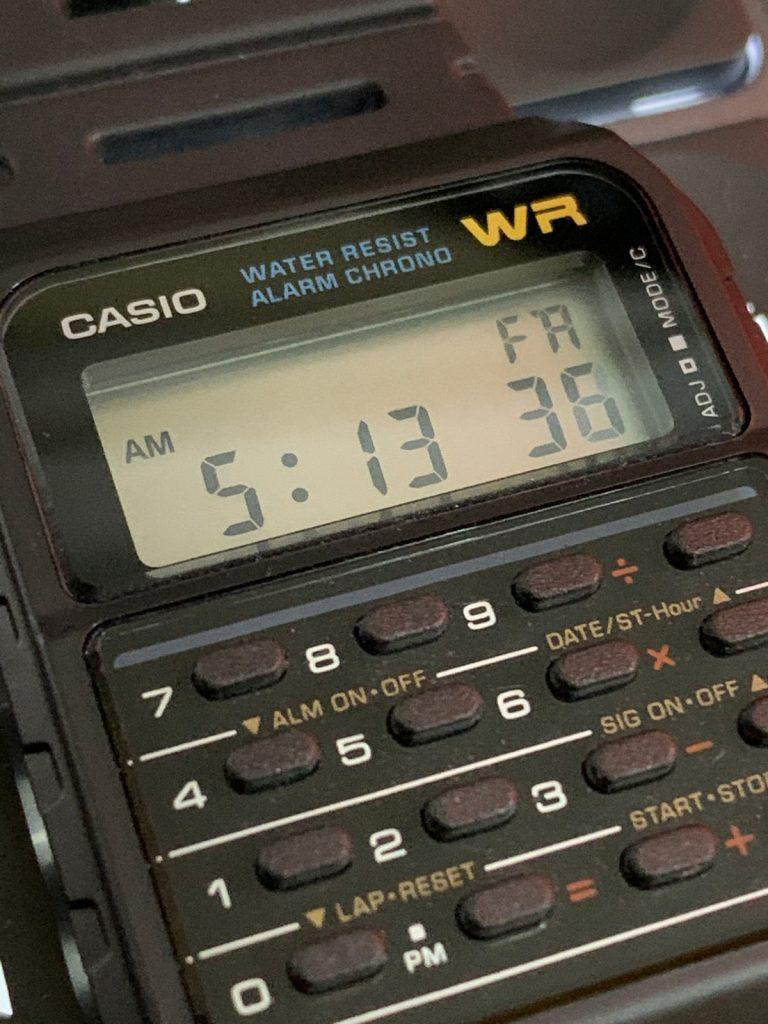 Casio CA-53W: pantalla LCD