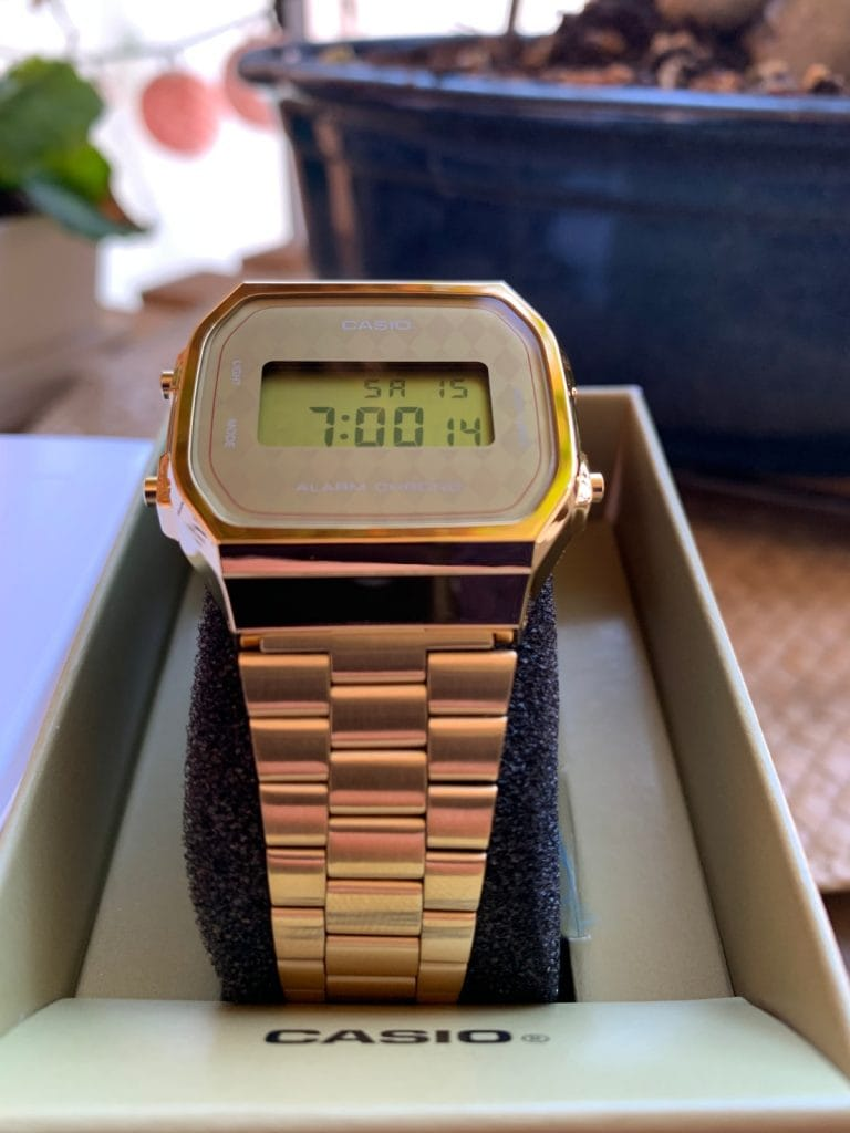 Casio A168WG - el reloj Casio dorado