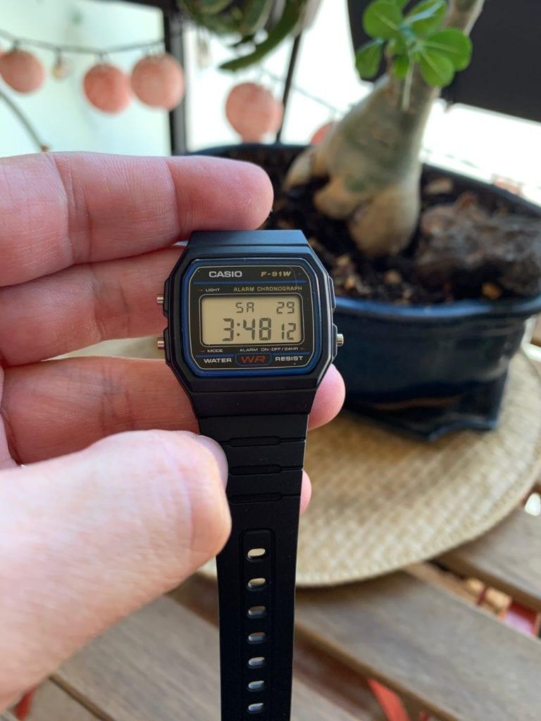 Casio F-91W: reloj vintage