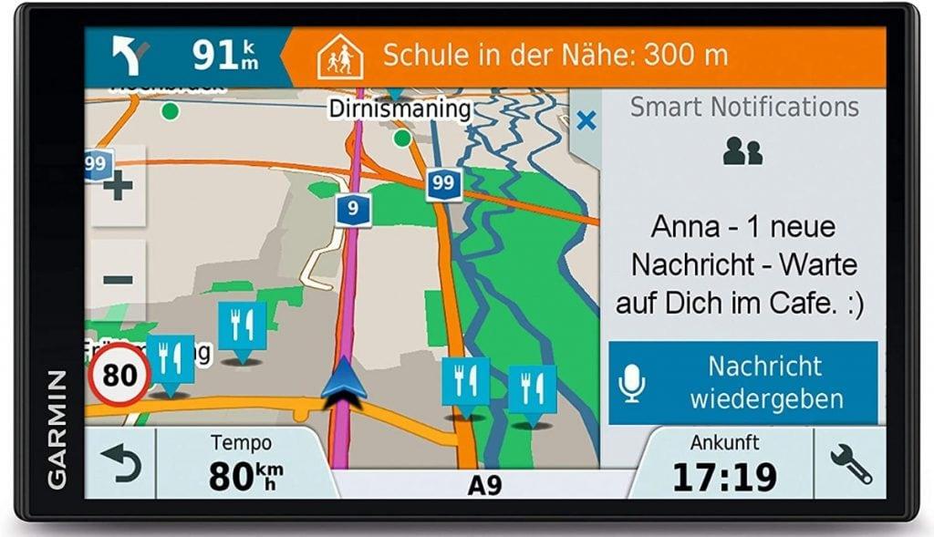 """Garmin DriveSmart 61LMT-D - Navegador GPS por satélite con pantalla táctil de 6.95"""", actualizaciones de mapas de por vida para Reino Unido, Irlanda y Europa"""