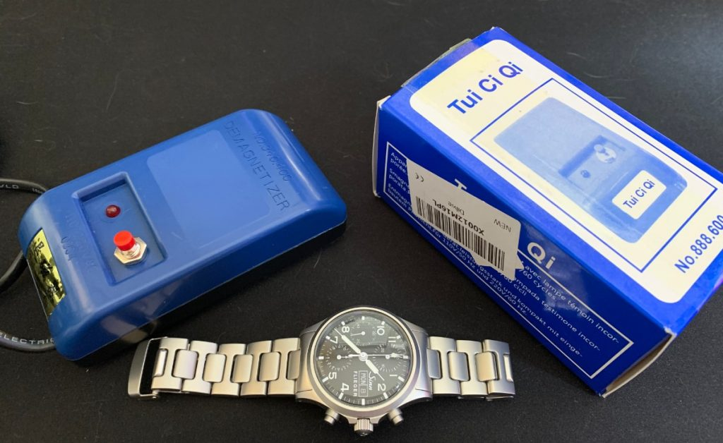 Reloj Sinn 356 y el desmagnetizador de relojes