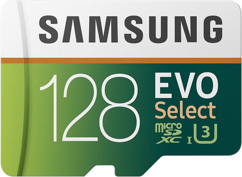 Samsung EVO Select - Tarjeta de Memoria microSDXC de 128 GB con Adaptador SD, 100 MB/s, U3