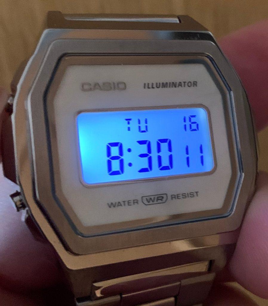 Casio A1000: el reloj Casio vintage completamente de acero: luz
