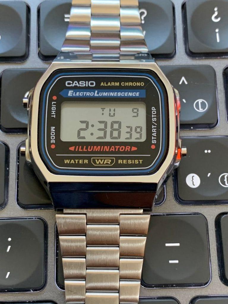 Casio A168WA - Casio plateado