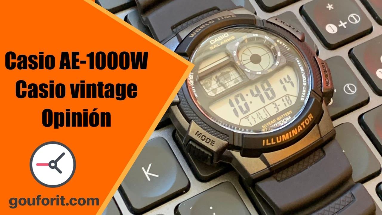 Casio AE-1000W - reloj vintage con mapa - Opinión