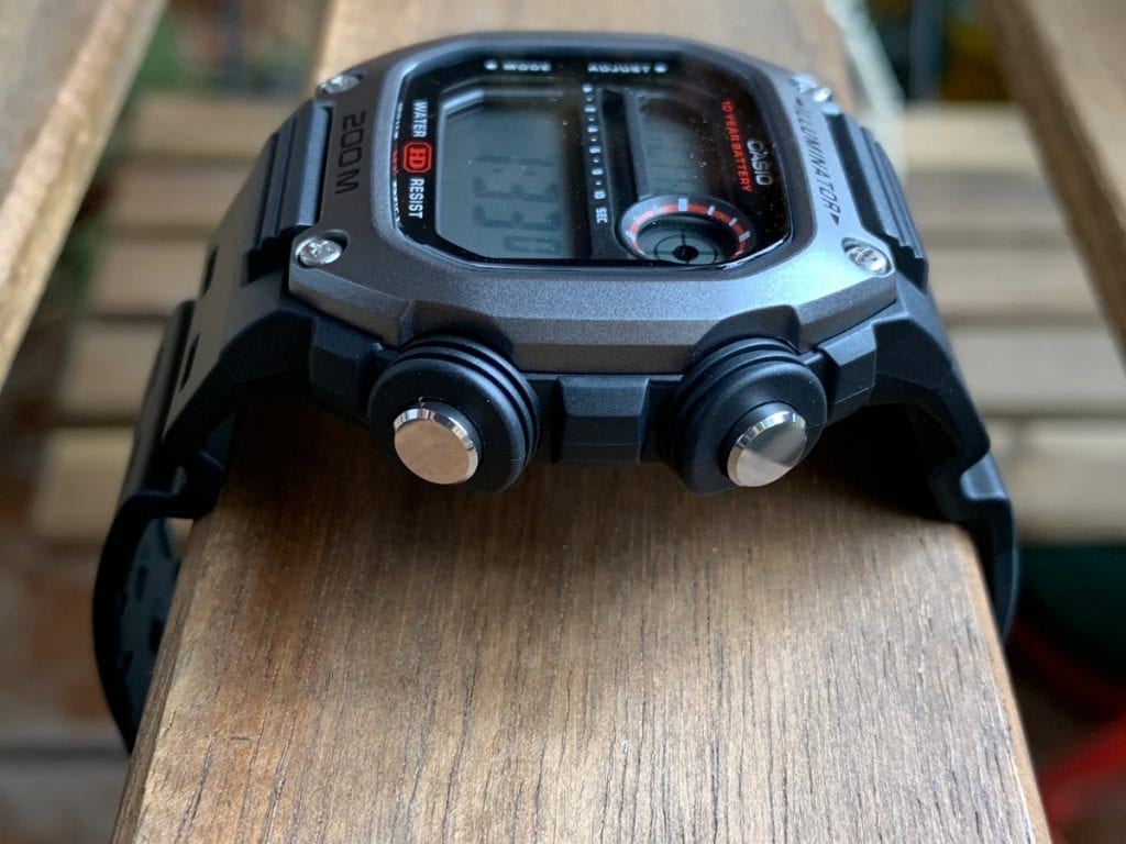 Casio DW-291H: botones