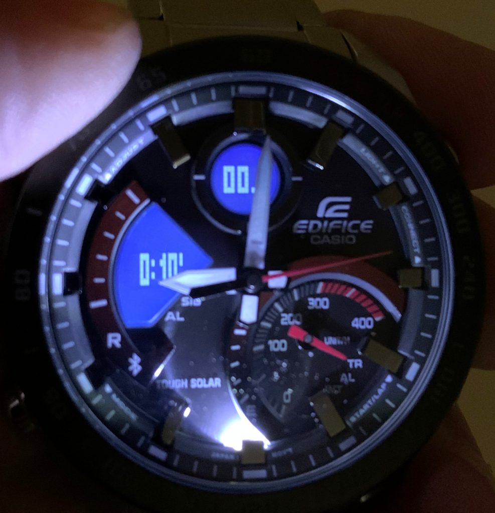 Casio EDIFICE ECB-900DB-1AER: luz