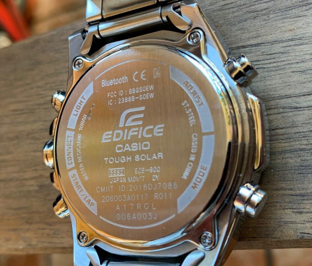 Casio EDIFICE ECB-900DB-1AER: parte trasera
