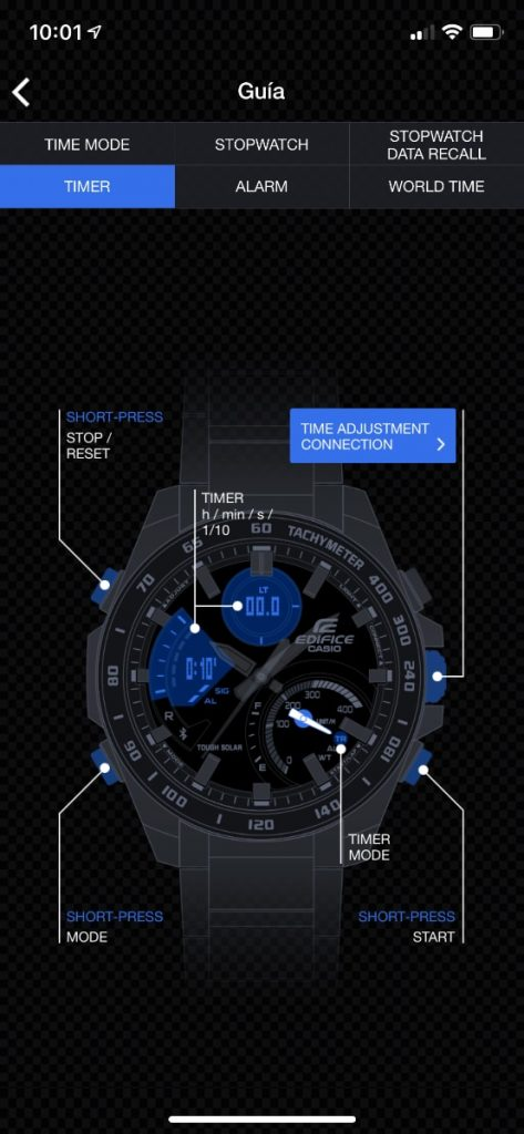 Casio EDIFICE ECB-900DB-1AER: app bluetooth