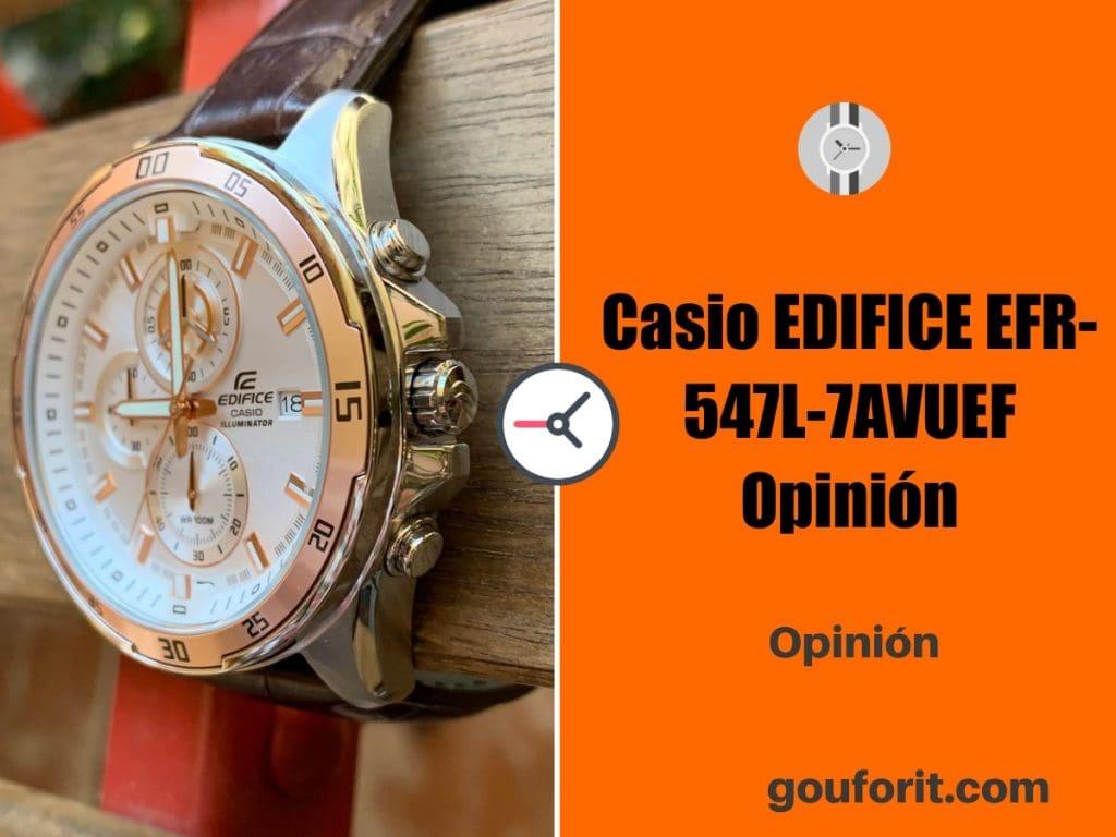 Casio EDIFICE EFR-547L-7AVUEF - El reloj más elegante - Opinión