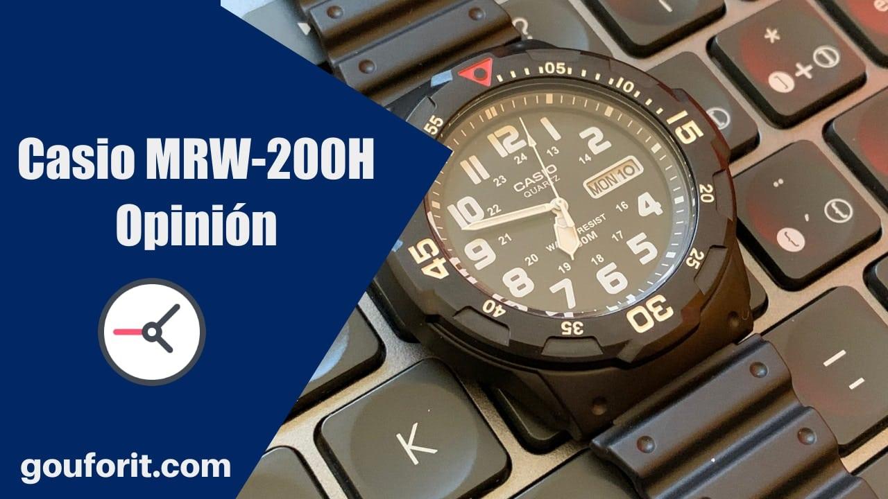 Casio MRW-200H - Reloj de buceo barato (100M) - Opinión