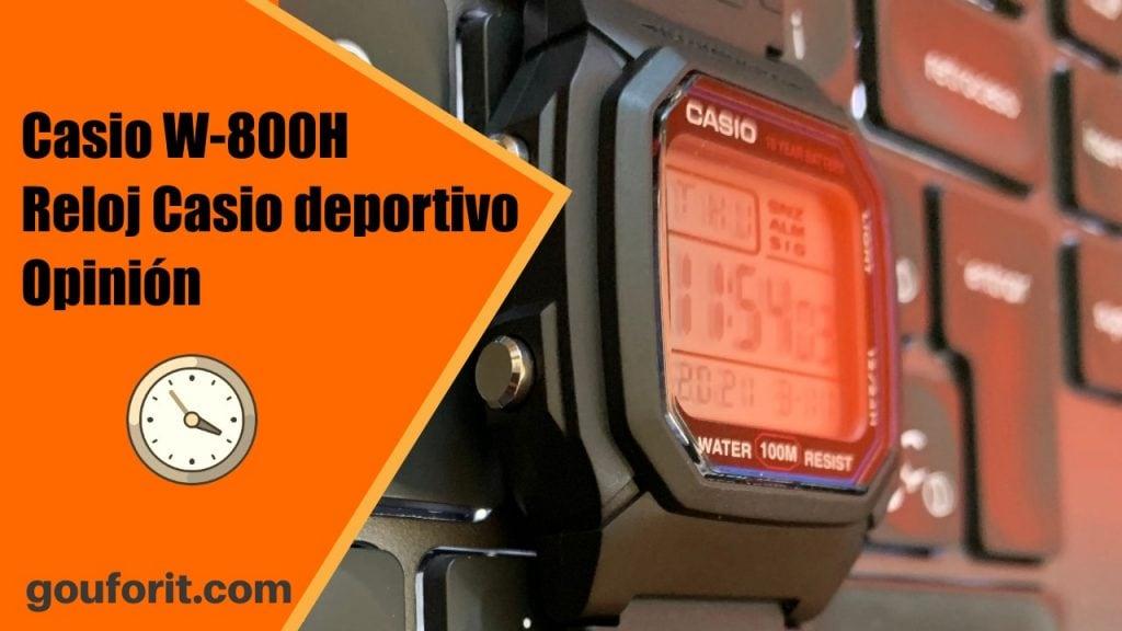 Casio W-800H - Reloj Casio deportivo con diseño clásico - Opinión