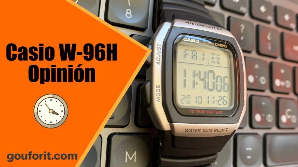 Casio W-96H - reloj con gran legibilidad y muy barato - Opinión
