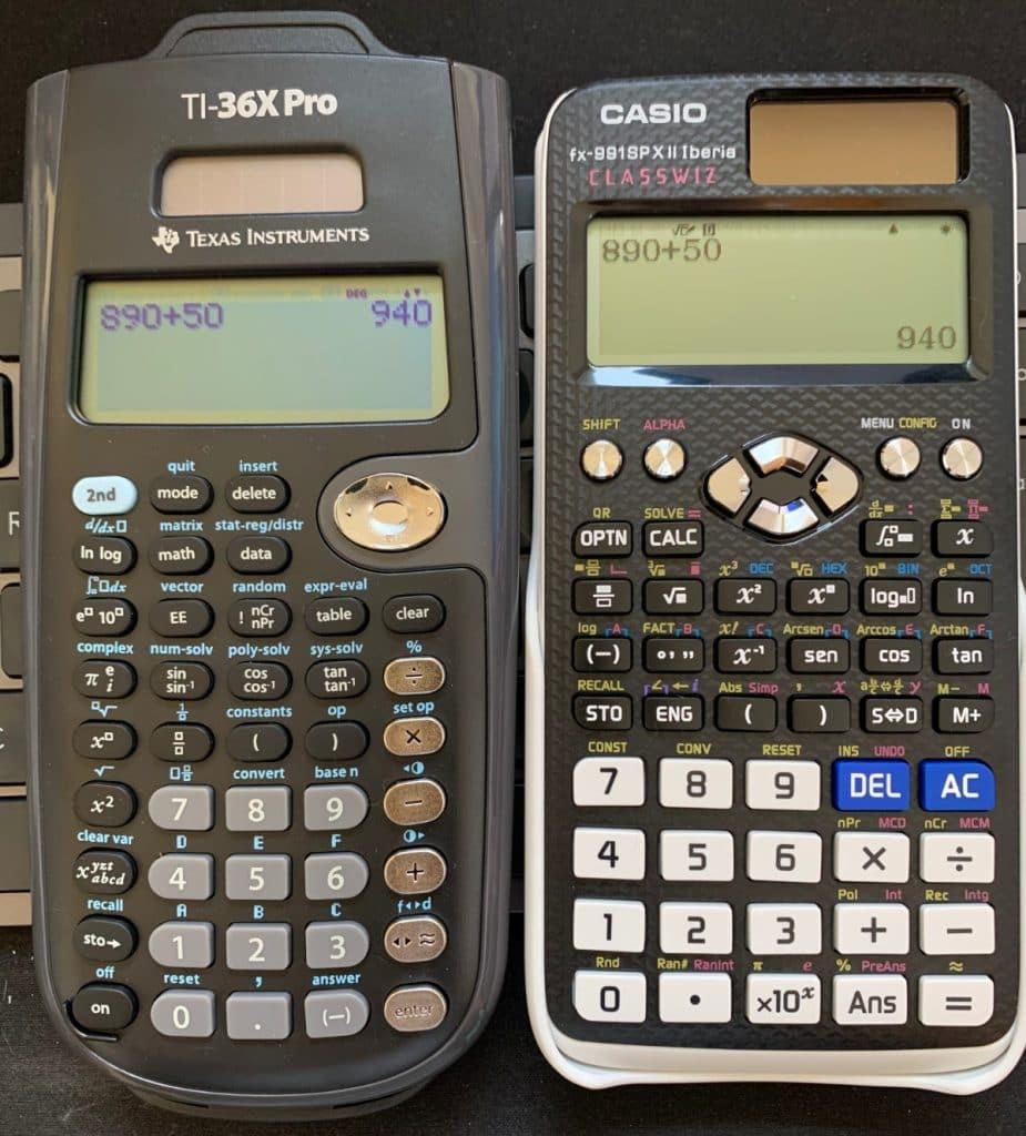 TI-36X Pro vs Casio FX-991sp X II Iberia