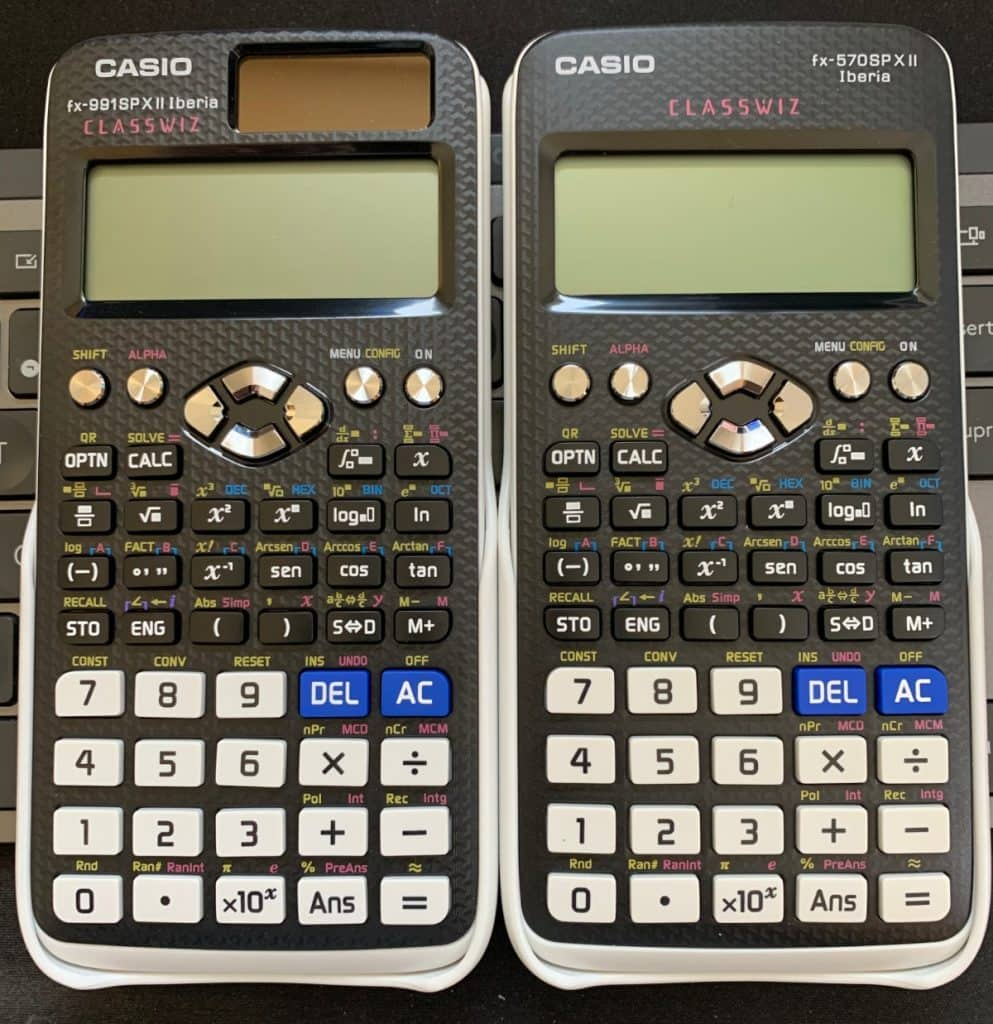 Casio FX-991SP X II Iberia vs Casio FX-570SP X II Iberia