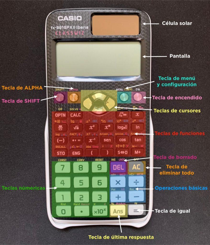 Teclas y funciones calculadora científica de Casio
