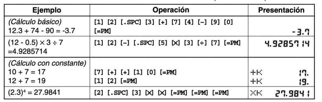 Casio Databank DBC-32: calculo
